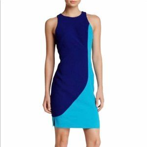 Rachel Roy Blue Sculpted Dress Size 4